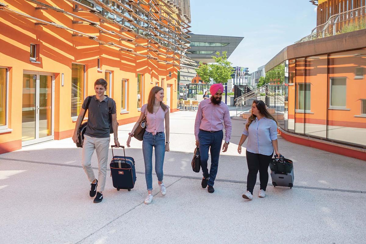 Austauschstudierende auf dem Campus WU