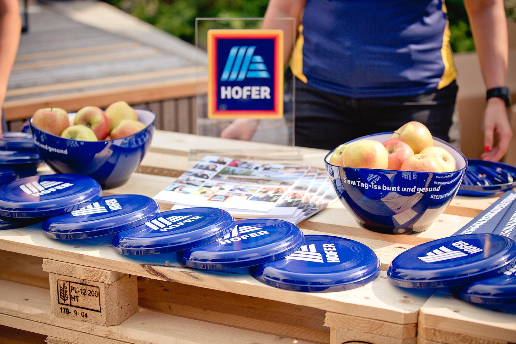 Produktsampling auf dem WU Sommerfest