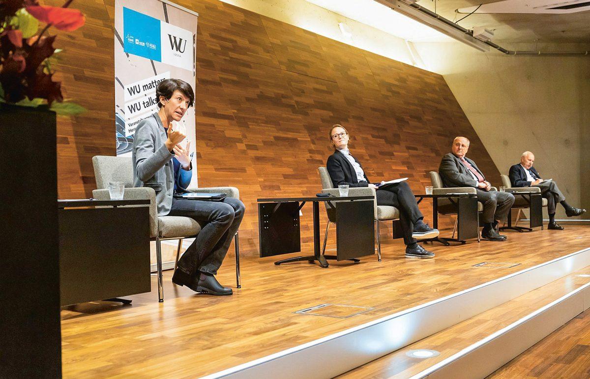 Veranstaltung an der WU (c) Lukas Pelz